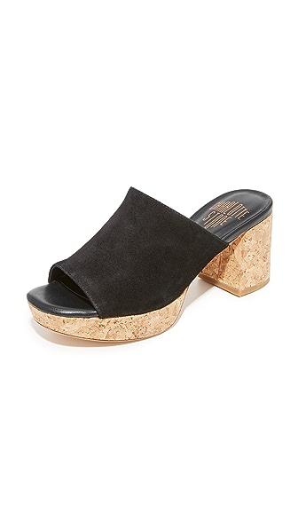 Charlotte Stone Maria Platform Mules - Black