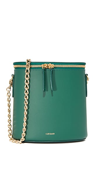 Cuero & Mor Perla Chain Bag - Forest