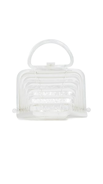 White Lilleth Mini Acrylic Bag