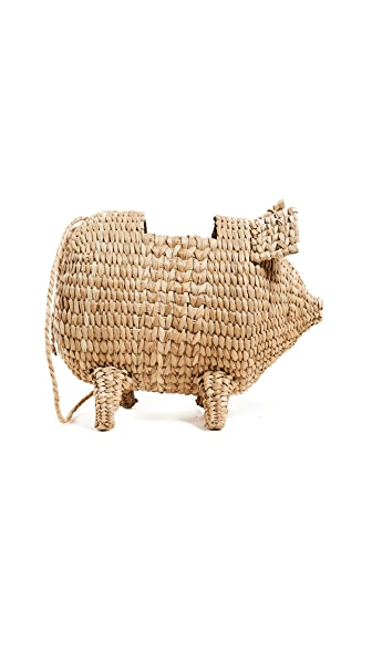 The Babe Straw Bag - Beige, Natural