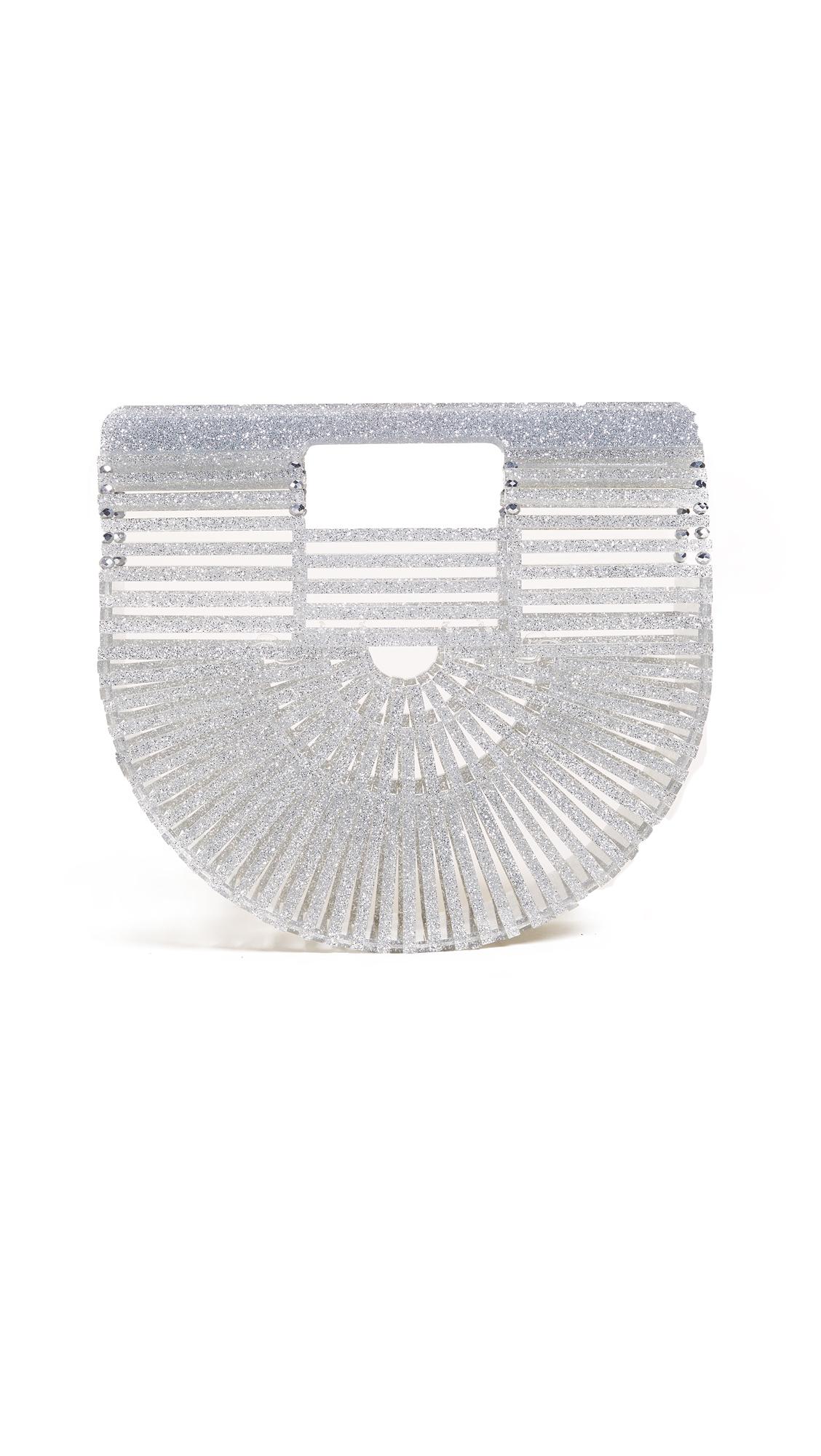 Cult Gaia Acrylic Ark Mini Bag - Glitter