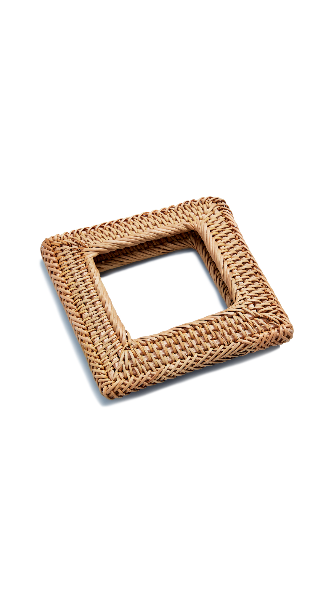 Cult Gaia Square Rattan Bangle In Natural