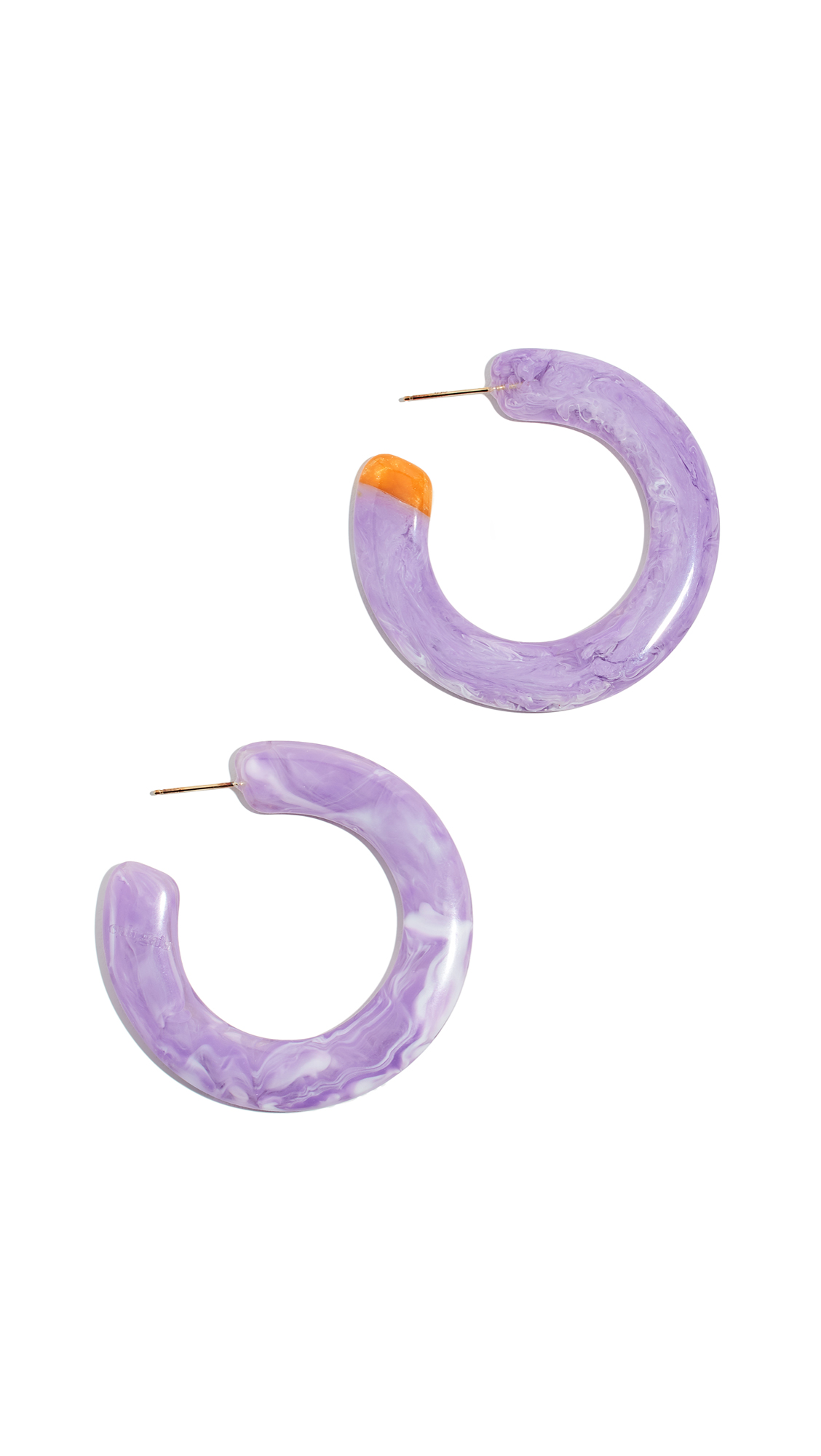 Mira Small Flat Hoop Earrings in Lavender