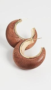 Cult Gaia Mona 木质圈式耳环