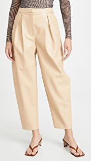 Cult Gaia Cleo Faux Leather Trousers