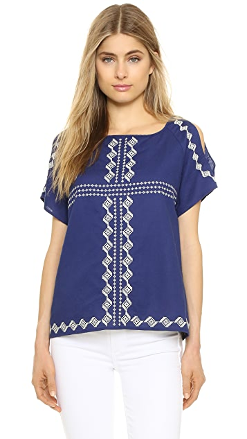 cupcakes and cashmere Pastoria Cold Shoulder Top