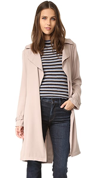 cupcakes and cashmere Adams Draped Coat