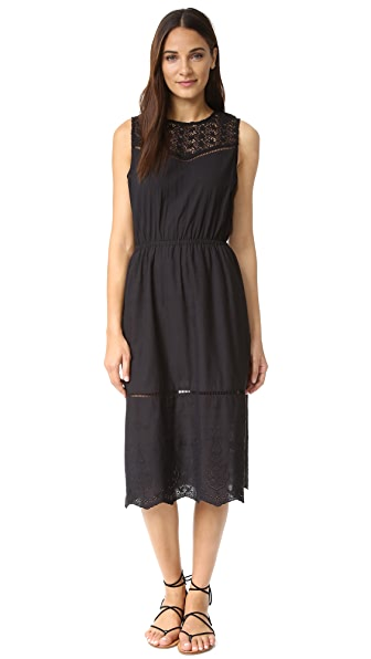 cupcakes and cashmere Drew Engineered Cotton Dress - Black