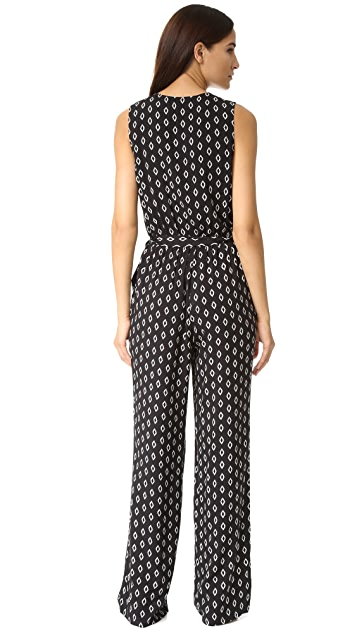cupcakes and cashmere Chanelle Printed Jumpsuit
