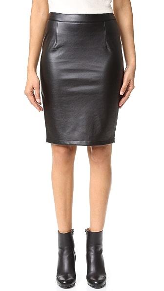 cupcakes and cashmere Jasper Vegan Leather Pencil Skirt