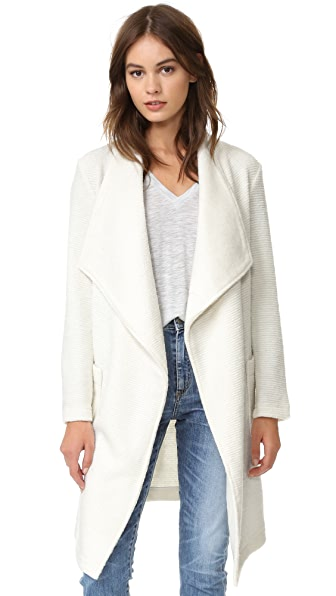 cupcakes and cashmere Alana Textured Knit Wrap Coat