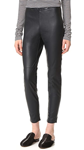 cupcakes and cashmere Liliana Stretch Vegan Leather Leggings