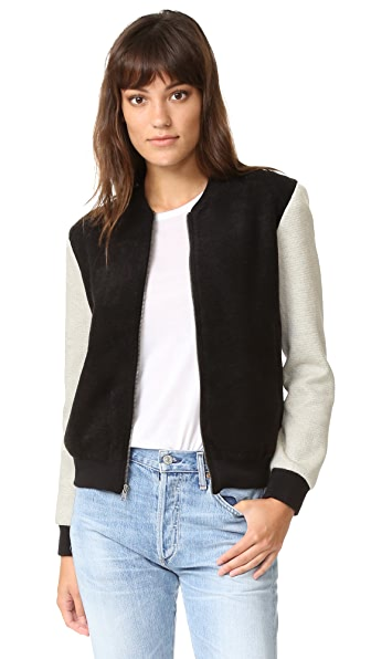 cupcakes and cashmere Tompkins Bomber Jacket - Black