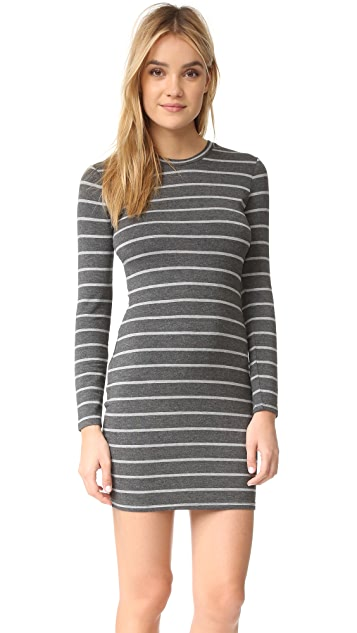 cupcakes and cashmere Malbec Striped Dress With Twist Back