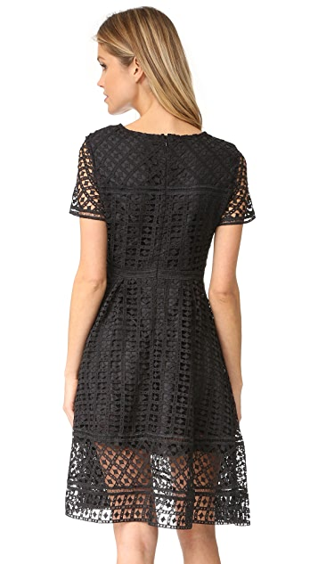 cupcakes and cashmere Mori Lace Fit and Flare Dress