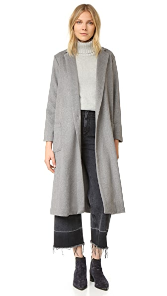 cupcakes and cashmere Levin Long Melton Duster Coat