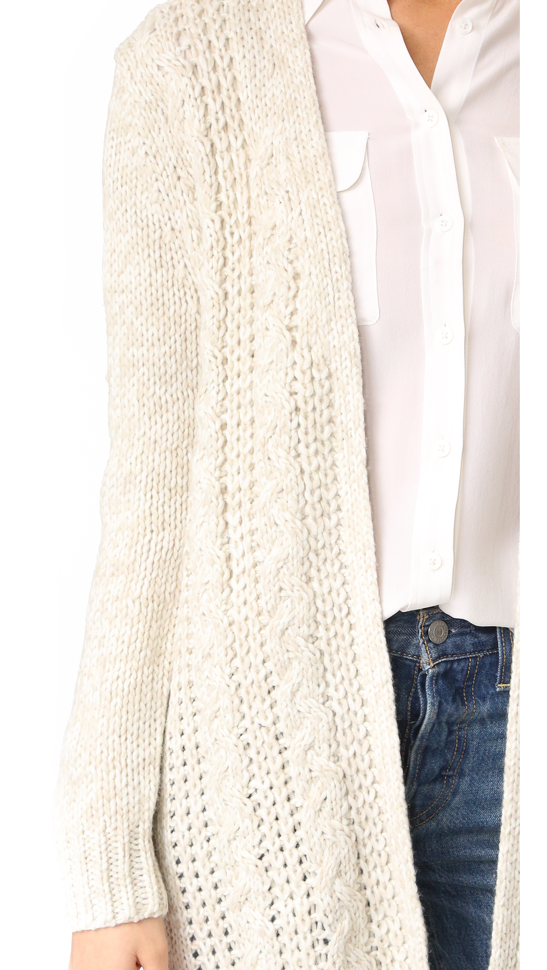 cupcakes and cashmere Neil Cable Knit Cardigan | SHOPBOP