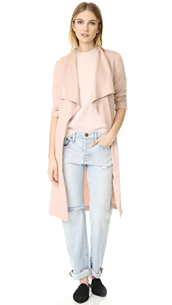 cupcakes and cashmere Abria Drape Front Coat