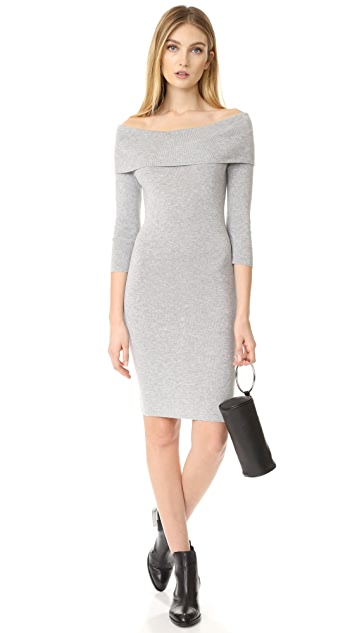 cupcakes and cashmere Vance Off Shoulder Sweater Dress