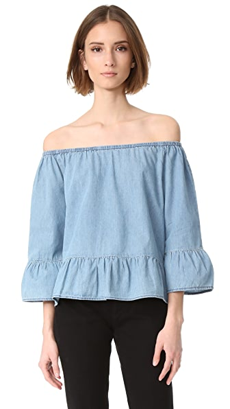 cupcakes and cashmere Off Shoulder Top