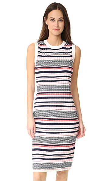 cupcakes and cashmere Walton Stripe Dress In Cotton Candy