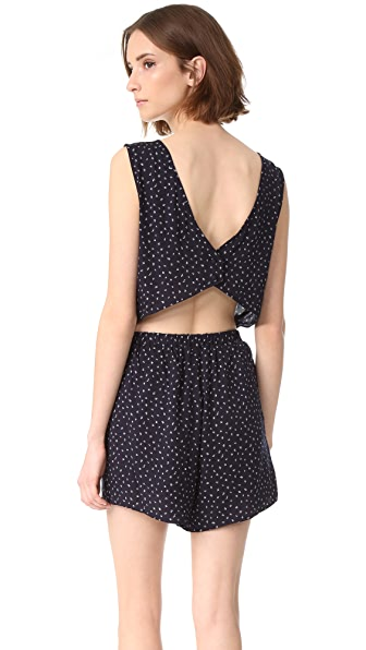 cupcakes and cashmere Gianna Button Back Romper
