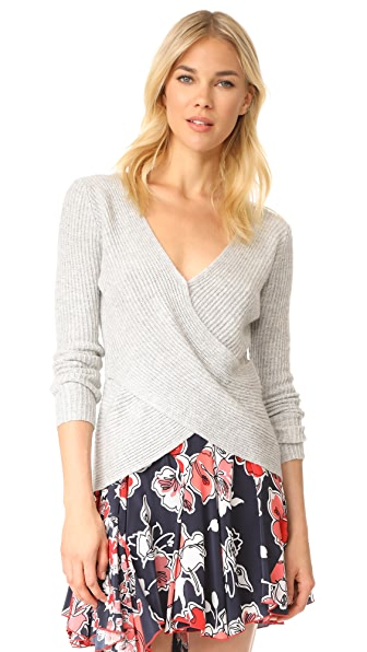 cupcakes and cashmere Nikolai Cross Front Sweater