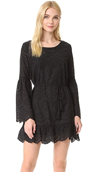 cupcakes and cashmere Ruben Eyelet Bell Sleeve Dress - Black
