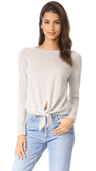 cupcakes and cashmere Rimona Cashmere Crew Neck Raglan - Light Heather Grey