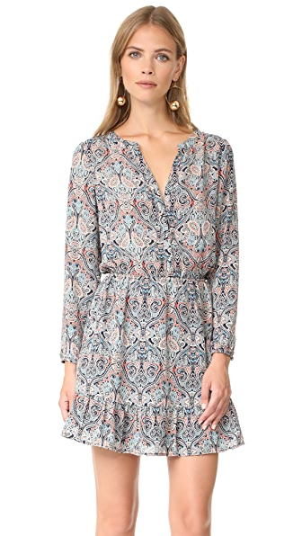 cupcakes and cashmere Selma Haight Paisley Printed Dress - Ink