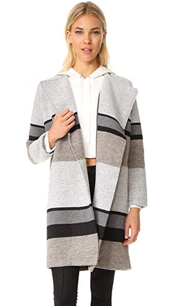 cupcakes and cashmere Allesa Drape Coat - Oatmeal