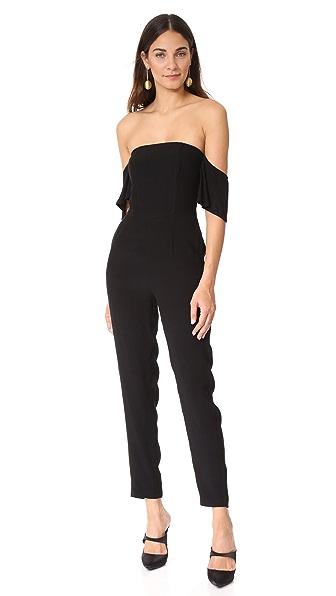 cupcakes and cashmere Havanna Off Shoulder Jumpsuit - Black