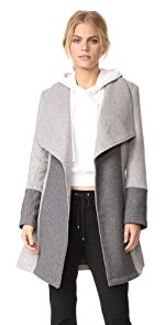 cupcakes and cashmere Akira Colorblocked Wrap Coat