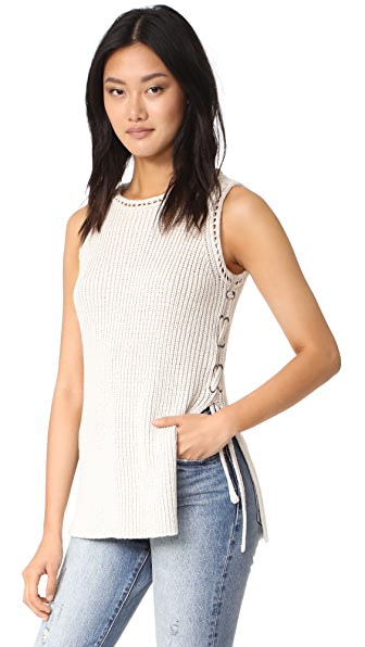 cupcakes and cashmere Paxton Rib Tank