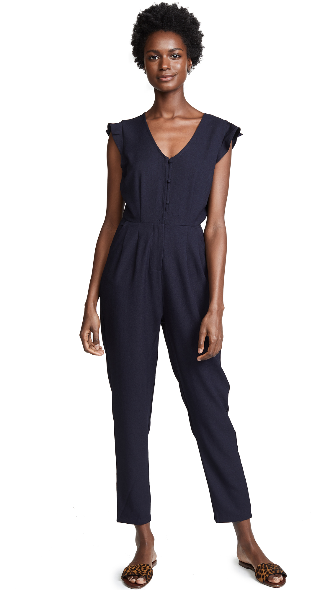cupcakes and cashmere Janeen Jumpsuit In Ink