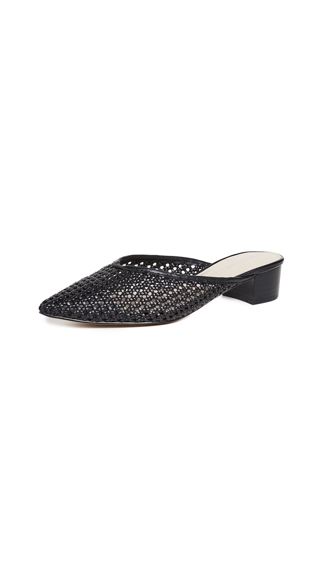 cupcakes and cashmere Leviana Woven Mules - Black