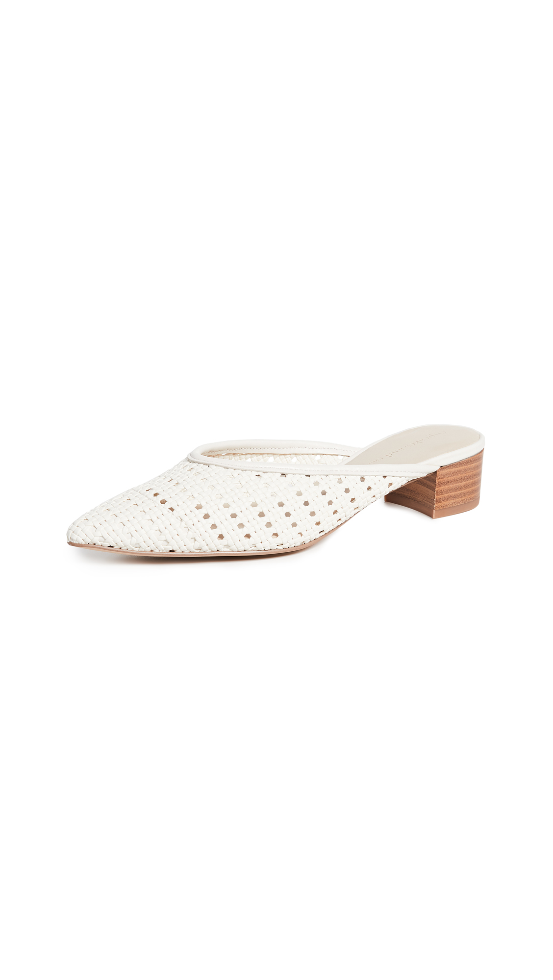 cupcakes and cashmere Leviana Woven Mules - Cream