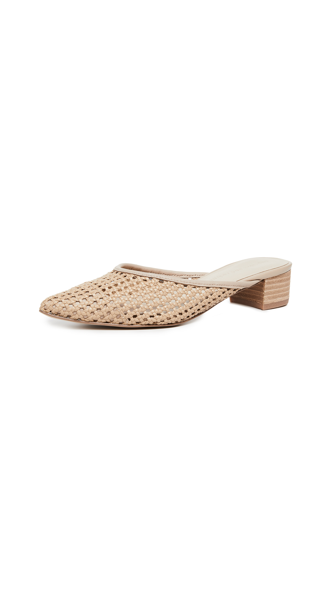 cupcakes and cashmere Leviana Woven Mules - Birch