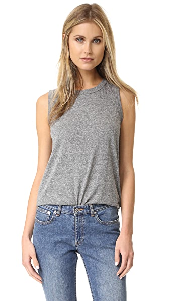 Current/Elliott The Muscle Tee - Heather Grey