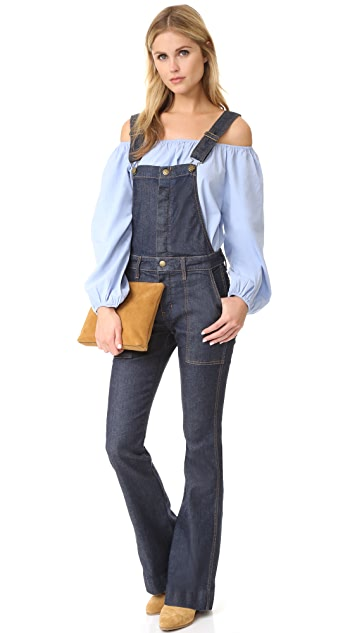 Current/Elliott The Clean Flare Overalls