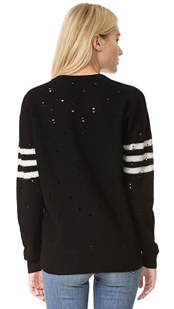 Current/Elliott The Crew Neck Destroy Sweater