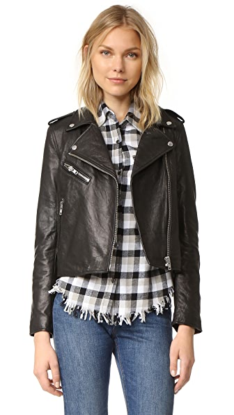 Current/Elliott The Roadside Leather Jacket
