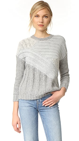 Current/Elliott The Mixed Cable Sweater In Mixed Cable