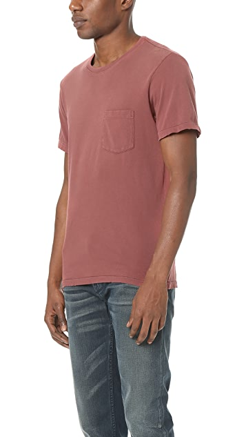 Current/Elliott Standard Fit Short Sleeve Pocket Tee