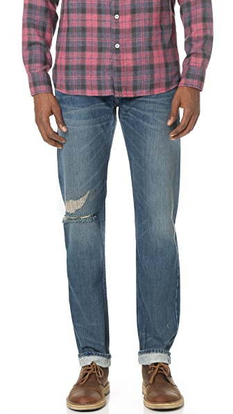 Current/Elliott The Selvedge Slim Straight Jeans