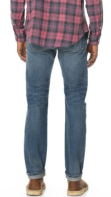 Current/Elliott The Selvedge Slim Straight Jeans