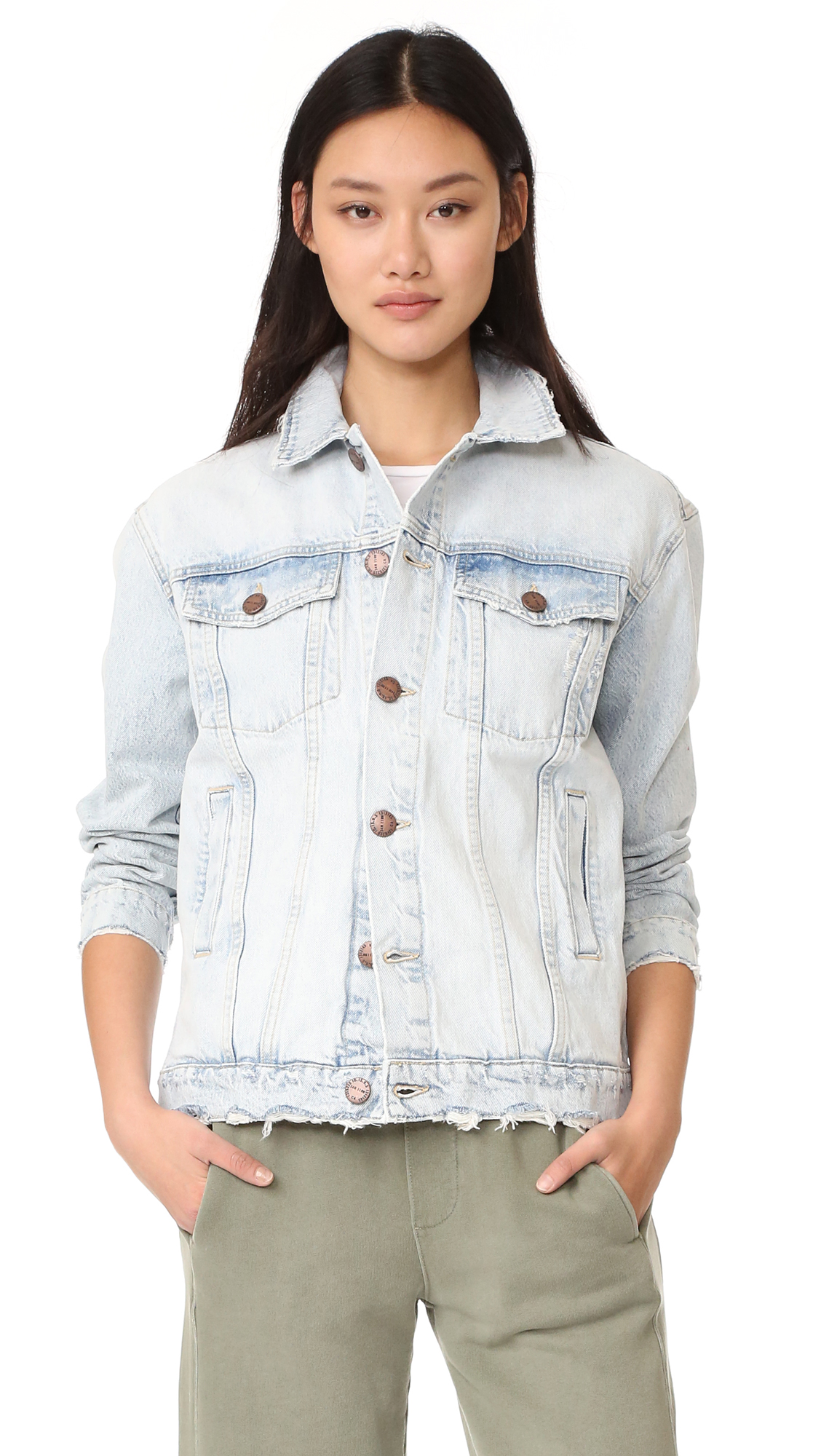 Current/Elliott The Boyfriend Trucker Jacket - Mulholland Destroy