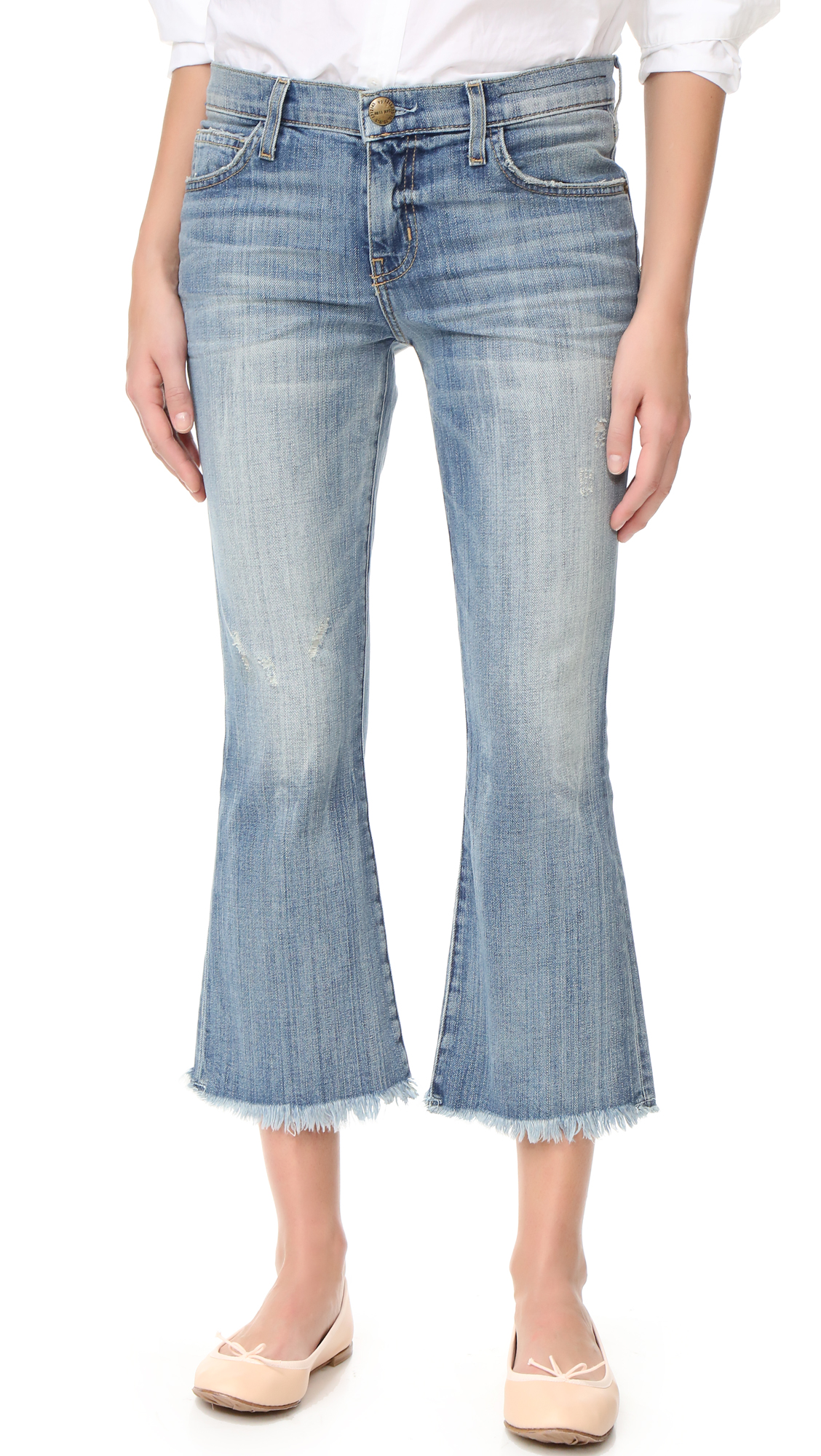 currentelliott female currentelliott the cropped flip flop jeans first love destroy raw hem
