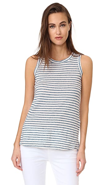 Current/Elliott The Muscle Tank - Anchor Stripe