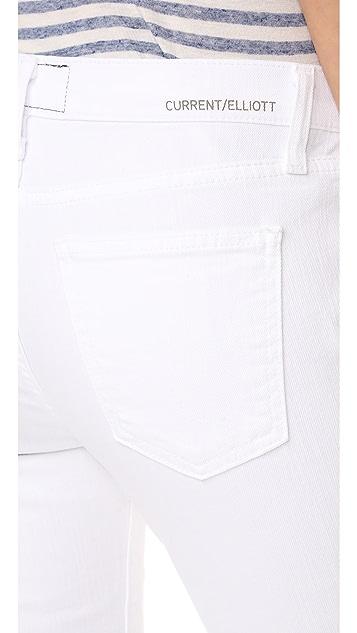 Current/Elliott The Cropped Flip Flop Jeans